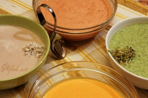 krem supi ot karfiol, brokoli, domati i tikva